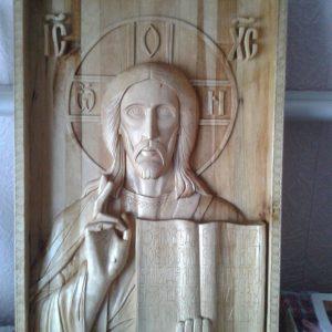 Икона из дерева: Иисус Христос