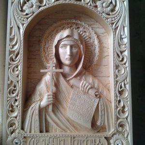 Икона из дерева: святая Наталья
