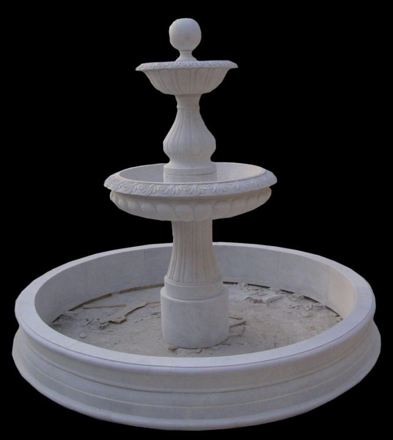 Фонтан из мрамора: Белый мрамор-04