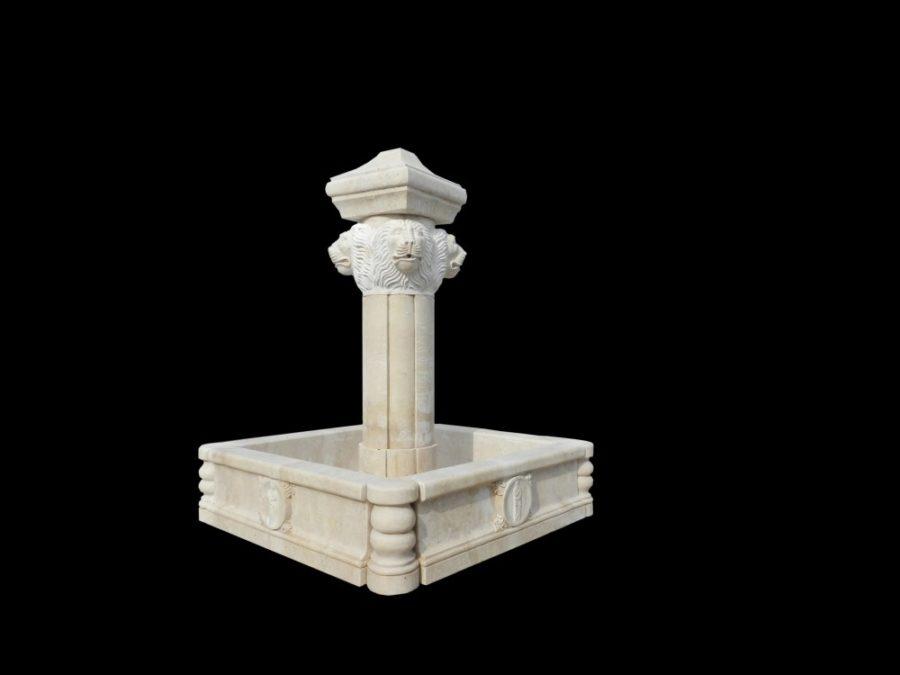 Фонтан из мрамора: Напольный интерьерный фонтан-02