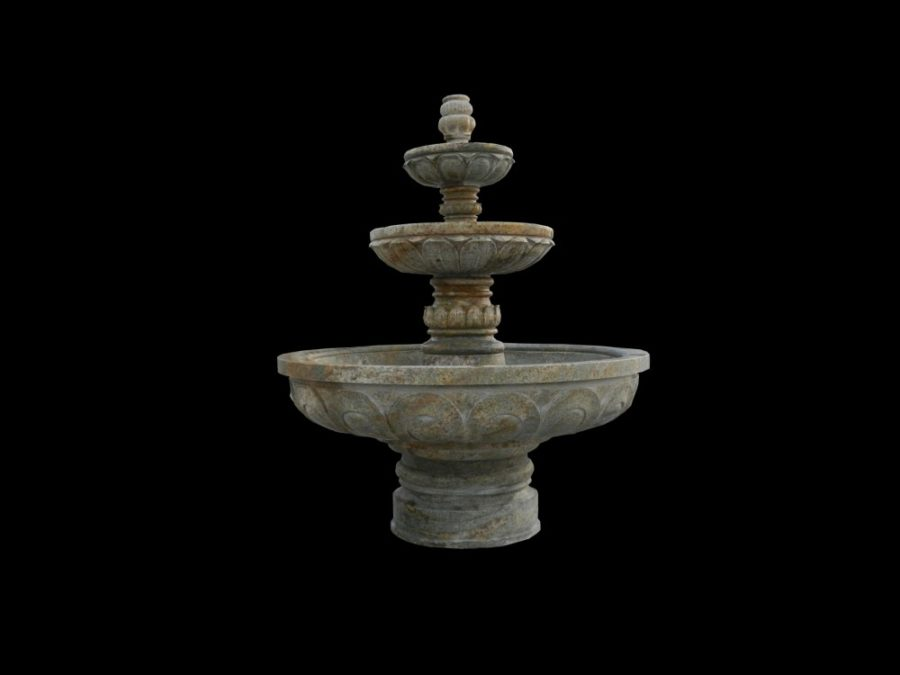 Фонтан из мрамора: Напольный интерьерный фонтан-04