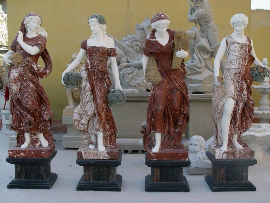 Скульптура из мрамора: Резные скульптуры ручной работы из красного мрамора