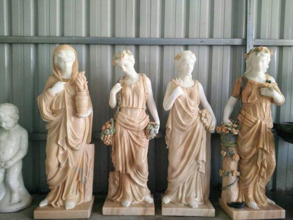 Скульптура из мрамора: Резные скульптуры ручной работы из красного мрамора-01