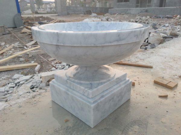 Скульптура из мрамора: Мраморные горшки для сада-02