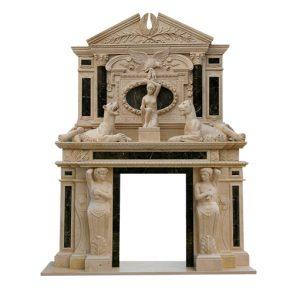 Скульптура из мрамора: Резной мраморный портал для камина