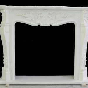 Скульптура из мрамора: Каминный портал из белого мрамора-03