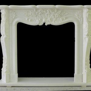 Скульптура из мрамора: Каминный портал из белого мрамора-04