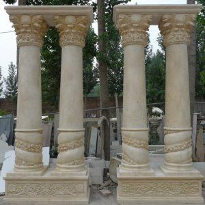 Скульптура из мрамора: Двойные резные колонны