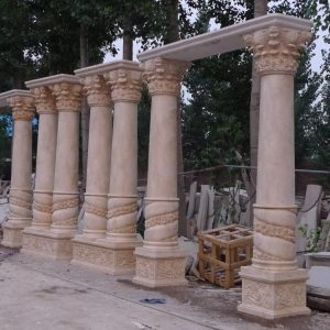 Скульптура из мрамора: Резные колонны-01