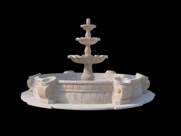 Фонтан из мрамора: Фонтан для сада-12