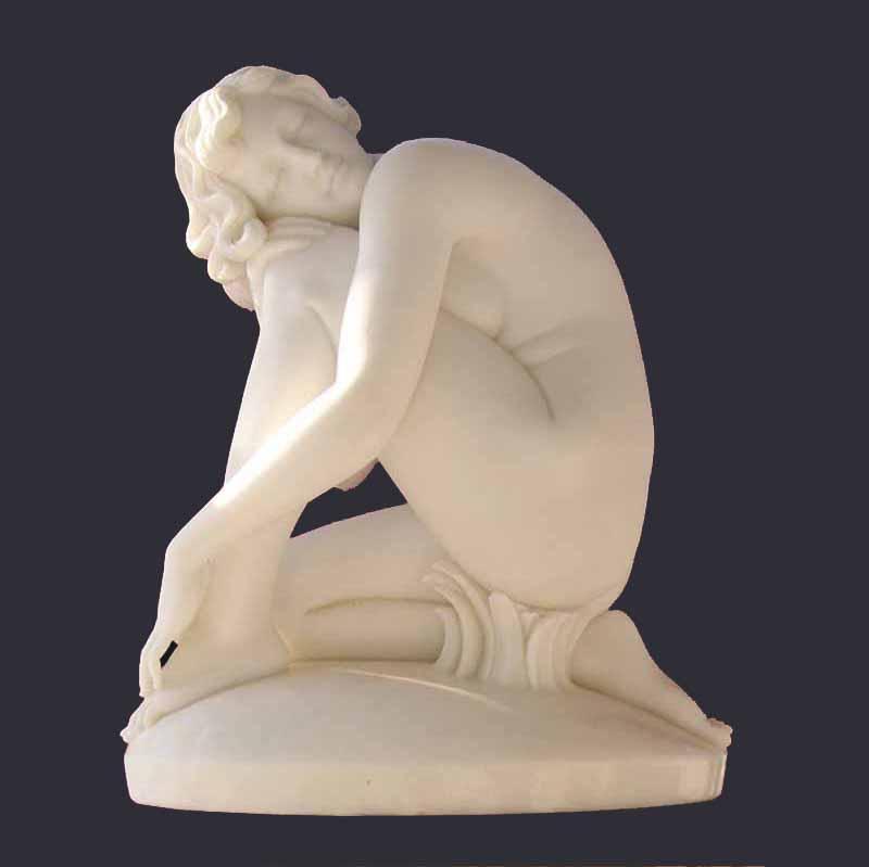 Скульптура из мрамора: Резная статуя леди-03