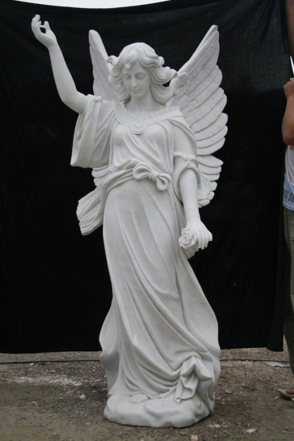 Скульптура из мрамора: Статуя ангела-03