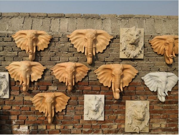 Скульптура из мрамора: Настенный гобелен Слон-01