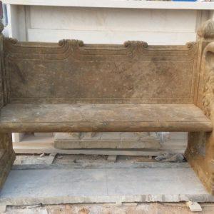 Скульптура из мрамора: Скамья для сада