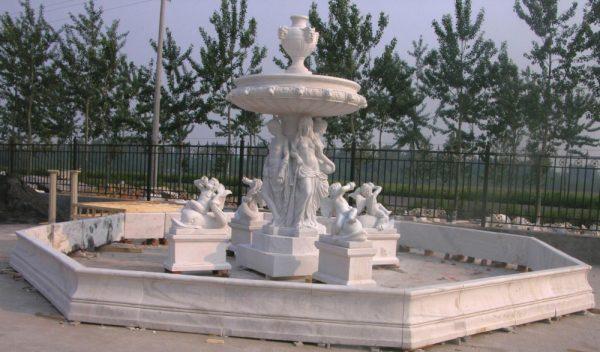 Фонтан из мрамора: Большой ландшафтный фонтан-03