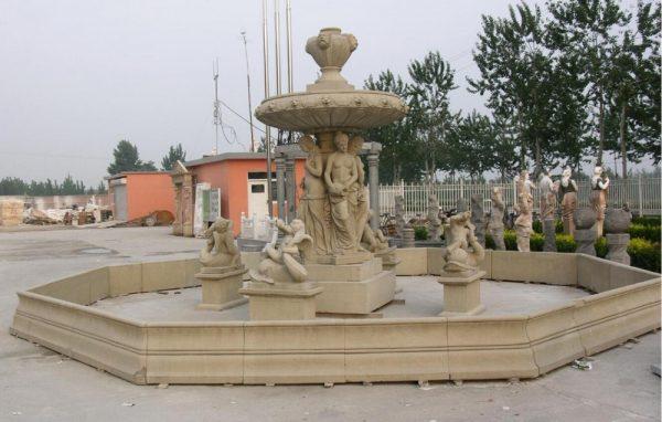 Фонтан из мрамора: Большой ландшафтный фонтан-04
