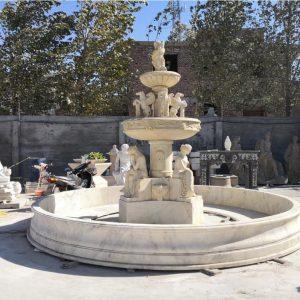 Фонтан из мрамора: Большой ландшафтный фонтан-05