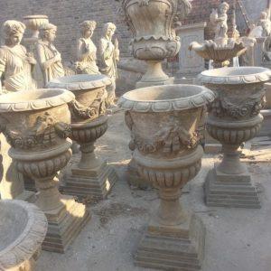 Скульптура из мрамора: Мраморные горшки для сада-10