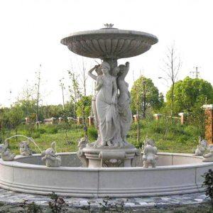 Фонтан из мрамора: Большой ландшафтный фонтан-06