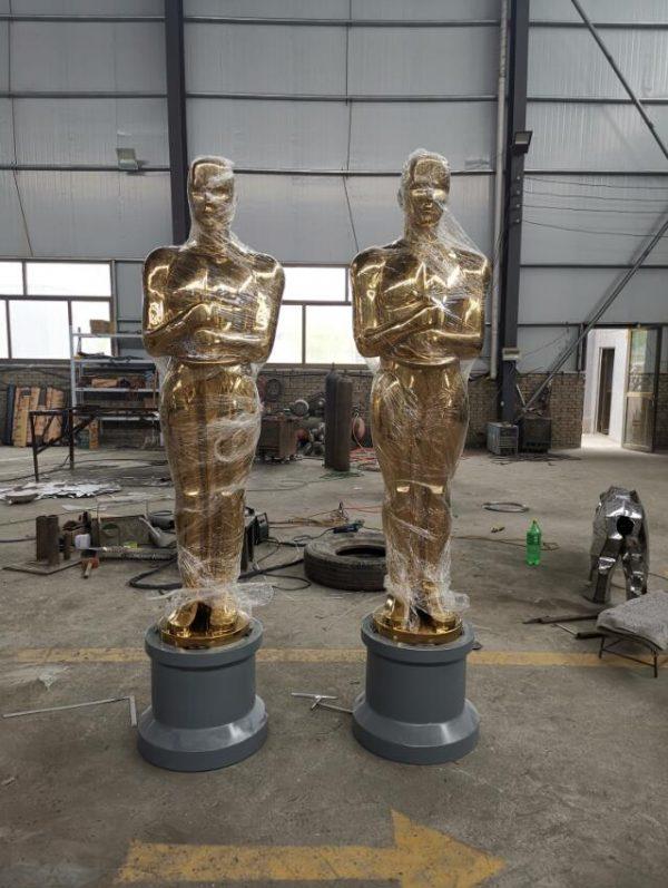 Скульптура из нержавеющей стали: Статуэтка Оскар-01