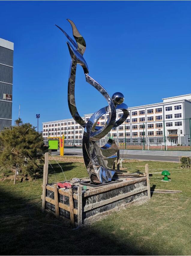 Скульптура из нержавеющей стали: Абстрактная скульптура