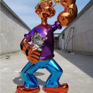 Скульптура из нержавеющей стали: Шарж на героев мультфильма