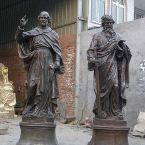Статуя из бронзы: Статуя для церкви-02