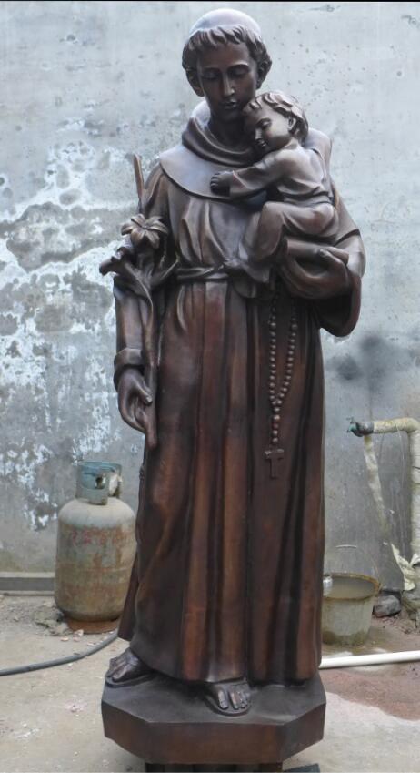 Статуя из бронзы: Статуя для церкви-05