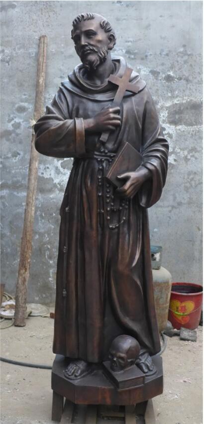 Статуя из бронзы: Статуя для церкви-06