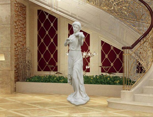 Скульптура из мрамора: Статуя госпожи из белого мрамора