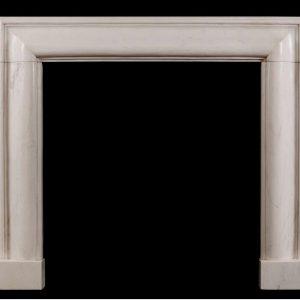 Скульптура из мрамора: Каминный портал из серого мрамора-02