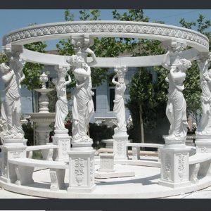 Беседка из мрамора: Беседка из белого мрамора-03