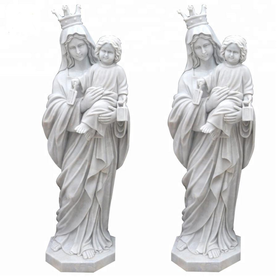 Скульптура из мрамора: Статуя Девы Марии-02