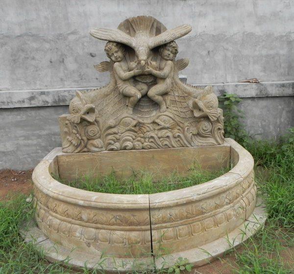 Фонтан из мрамора: Настенный фонтан-01
