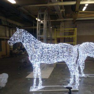 Скульптура из прута: Лошадь