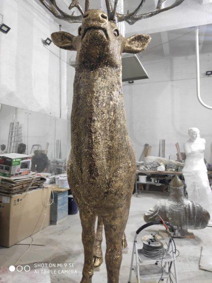 Скульптура из искусственного камня: Скульптура Бронзовый олень