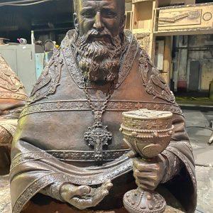 Скульптура из бронзы: Святой Иоанн Кронштадтский