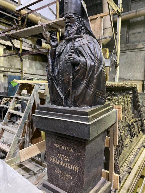 Скульптура из бронзы: Святитель Лука Крымский