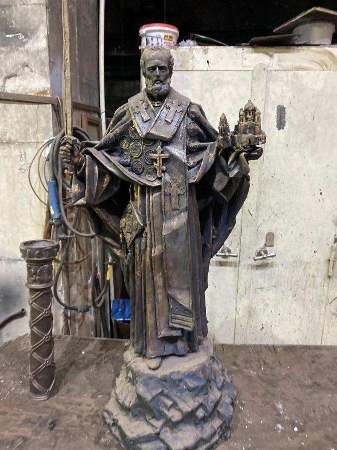 Скульптура из бронзы: Статуя Николая Чудотворца