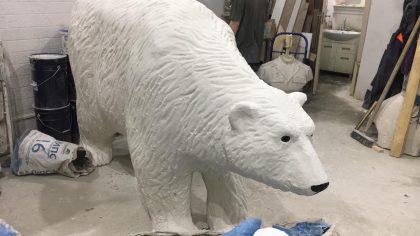 Скульптура из стеклопластика: Белый медведь