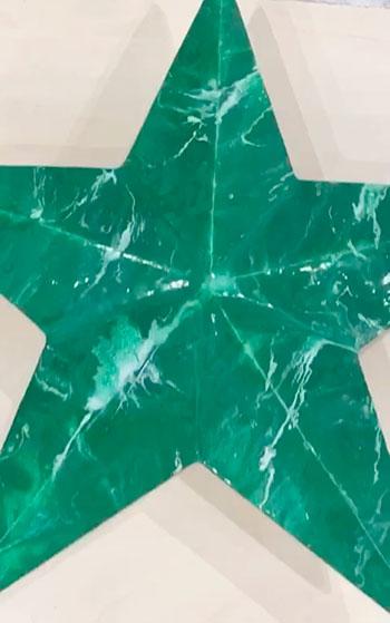Звезда из литьевого мрамора