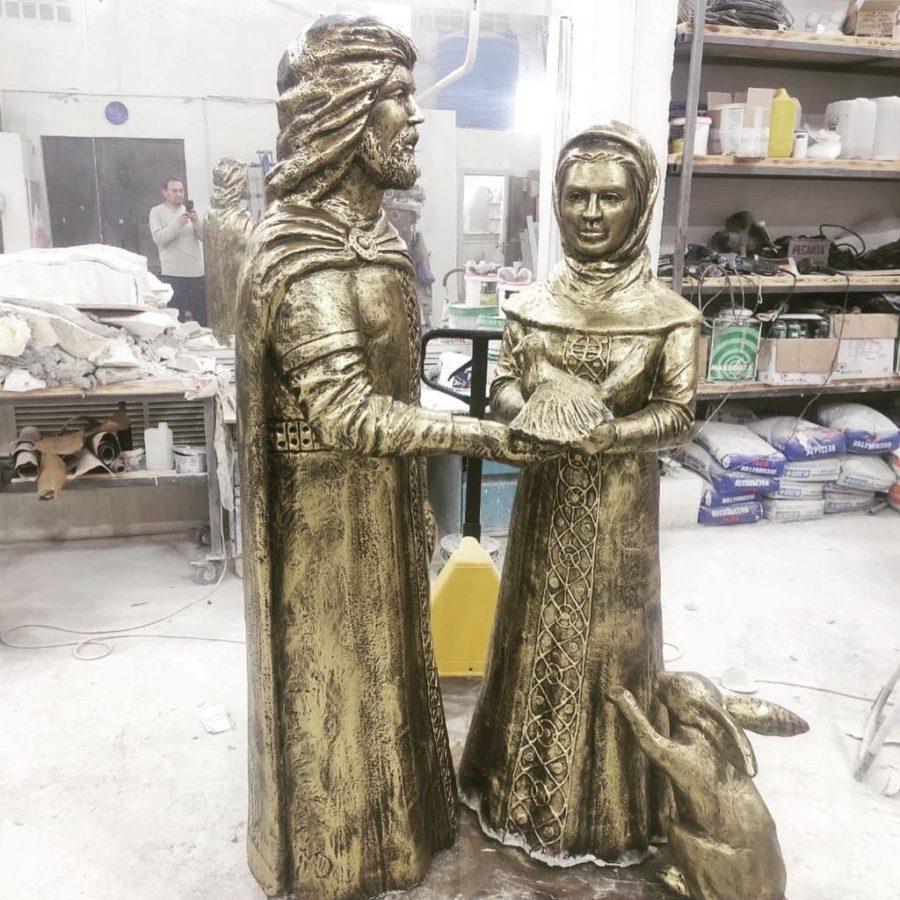 Скульптура из искусственного камня: Скульптура Петра и Февронии