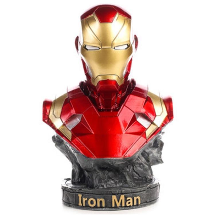"""Бюст из гипса: Бюст """"Железный человек"""". Вселенная Marvel."""