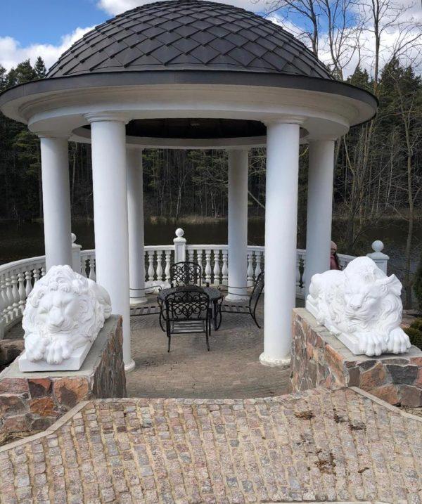 Скульптура из искусственного камня: Лев из искусственного мрамора