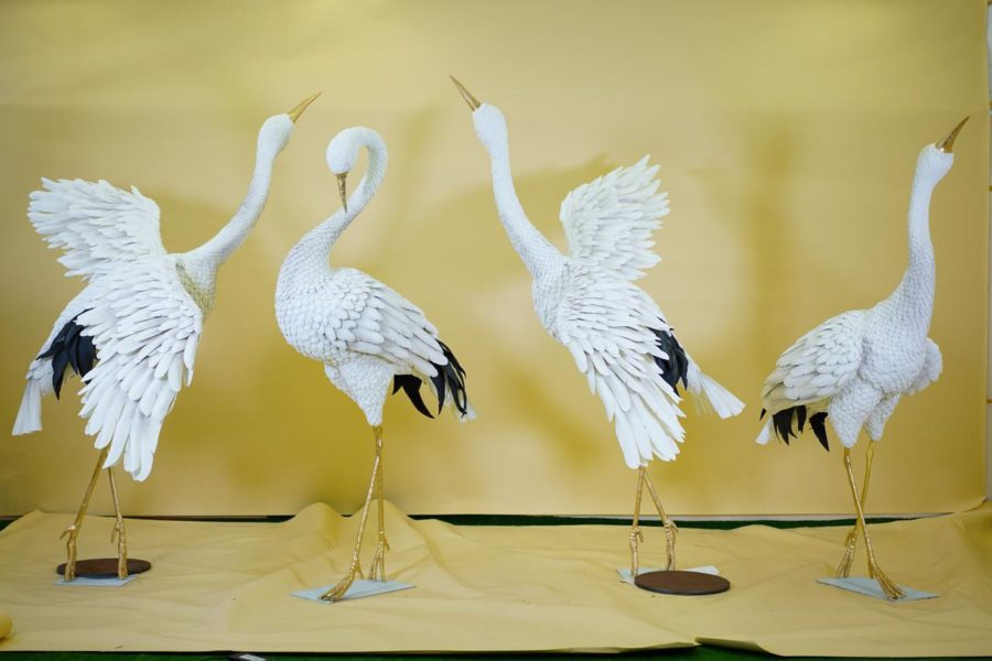 Скульптура из стеклопластика: Цапли