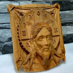 Икона из дерева: Икона Христа