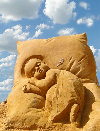 Красивые песочные скульптуры