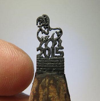 Резка на грифеле карандаша