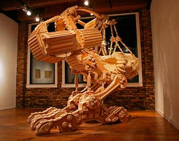 Деревянная фигура - Самоход