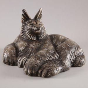 Скульптуры из ангидрита и кальцита: Рысь большая